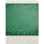Science Chalkboard Printed Backdrop
