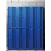 Blue School Locker Printed Backdrop