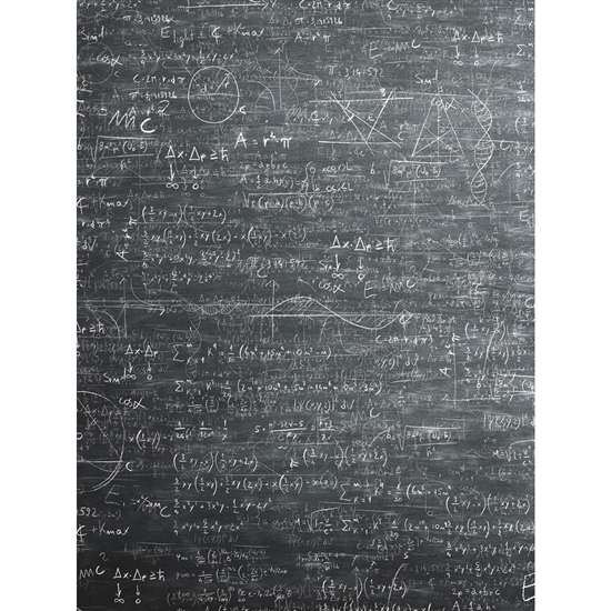 Physics Equation Chalkboard Printed Backdrop