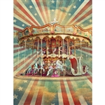 Carousel Printed Backdrop