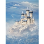 Princess Castle Cloud Printed Backdrop