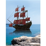 Pirate Ship Bay Printed Backdrop