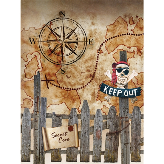 Pirate Fort Printed Backdrop
