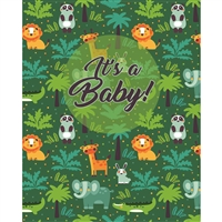 Jungle Baby Announcement Printed Backdrop