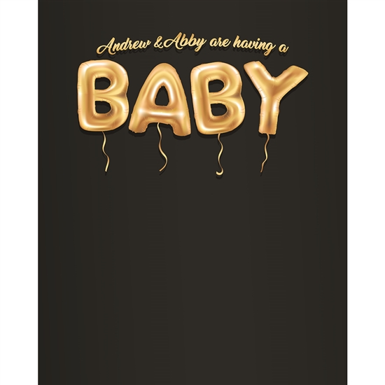 Balloons Baby Announcement Printed Backdrop