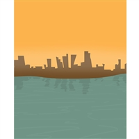 Cartoon Skyline Printed Backdrop