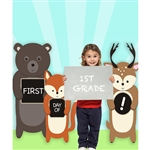 """First Day of School"" Printed Backdrop"