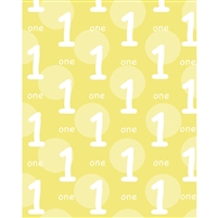 Yellow 1st Birthday Printed Backdrop