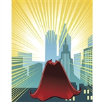 Superhero Cape Printed Backdrop