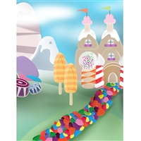 Candy Land Printed Backdrop