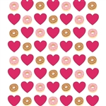 I Heart Donuts Printed Backdrop