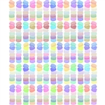 Pastel Macarons Printed Backdrop