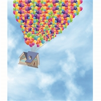 Balloon House Printed Backdrop