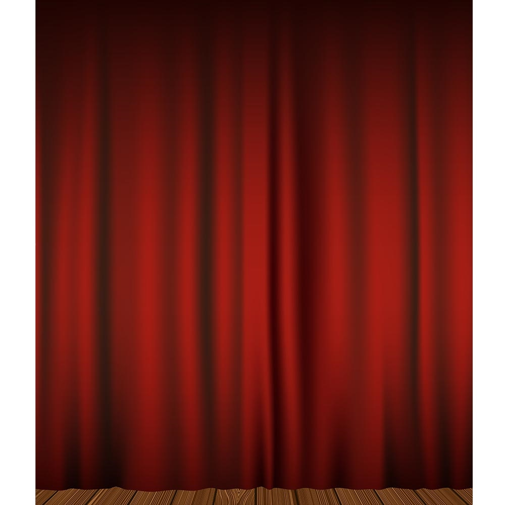 Red Curtains Printed Backdrop Backdrop Express