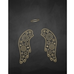 Ornate Angel Wings Printed Backdrop