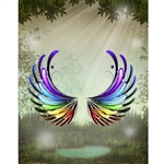 Fairy Wings Printed Backdrop