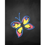 Colorful Butterfly Wings Printed Backdrop