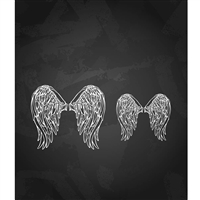 Pair of Eagle Wings Printed Backdrop