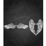Falcon & Angel Wings Printed Backdrop