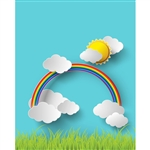 Sunshine and Rainbows Printed Backdrop