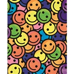 Retro Happy Face Printed Backdrop