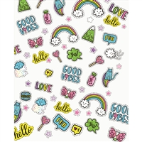 Rainbow Stickers Printed Backdrop