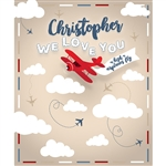 Custom Airplanes Printed Backdrop
