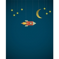 Rocketship Printed Backdrop