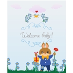 """Welcome Baby"" Garden Printed Backdrop"