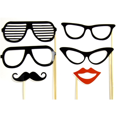Staches Amp Glasses Photo Booth Props Backdrop Express
