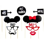 His & Hers Photo Booth Props