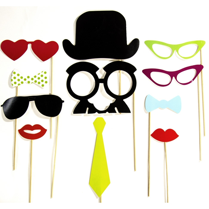 dapper and glam photo booth props backdrop express