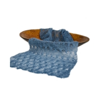 Denim Blue Mohair  Wrap