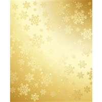 Metallic Gold Snowflakes Printed Backdrop