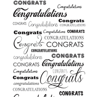 Congratulations Printed Seamless Paper