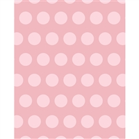 Rosy Polks Dots Printed Seamless Paper