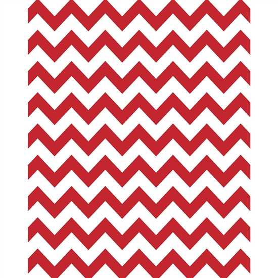 Red & White Chevron Printed Seamless Paper