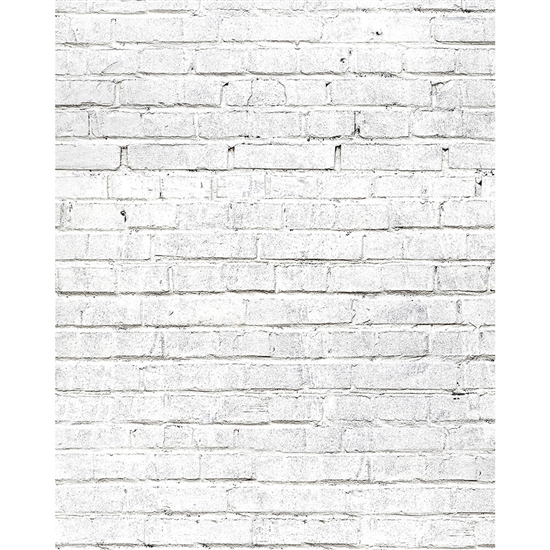 White Brick Printed Seamless Paper