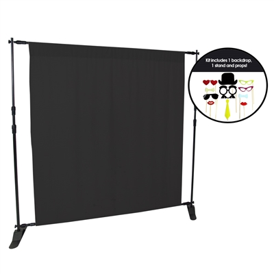 Black Fabric Photo Booth Kit