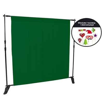 Holiday Green Fabric Photo Booth Kit