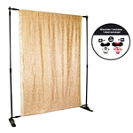 Gold Sequin Photo Booth Kit