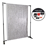Silver Sequin Photo Booth Kit