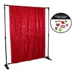 Red Sequin Photo Booth Kit
