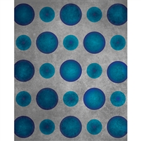 Aqua Blue Polka Dot Printed Backdrop