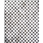 Faded Black Polka Dot Printed Backdrop