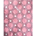 Pink Grunge Polka Dot Printed Backdrop