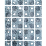 Blue Boxed Polka Dot Printed Backdrop