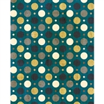 Teal & Gold Grunge Polka Dot Printed Backdrop
