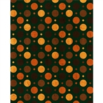 Pumpkin Polka Dot Printed Backdrop