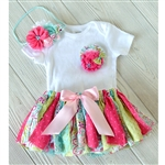Tropical Flowers Tutu & Headband Set